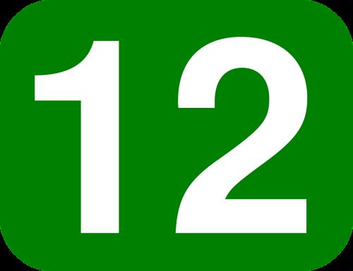 twelve number 12