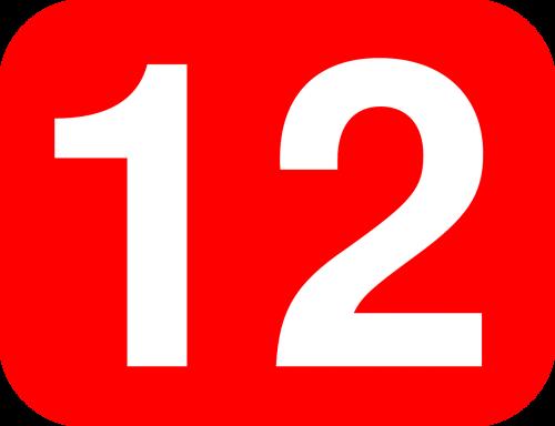 twelve 12 number