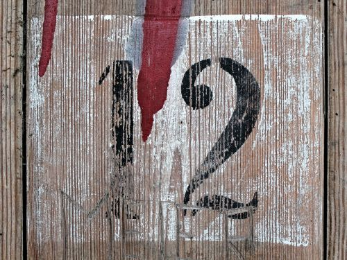 twelve number wood