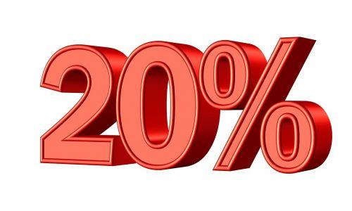 twenty 20 percent