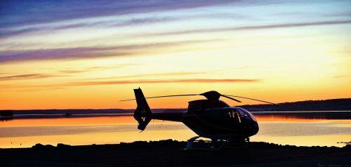 twilight helicopter himmel