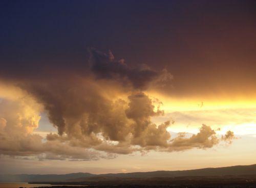 twilight clouds sunset
