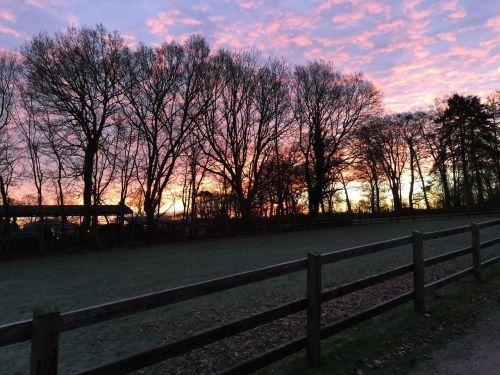 twilight winter himmel