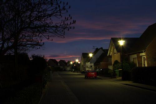twilight blue hour sky