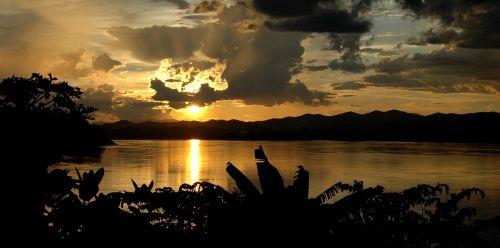 twilight sunset river