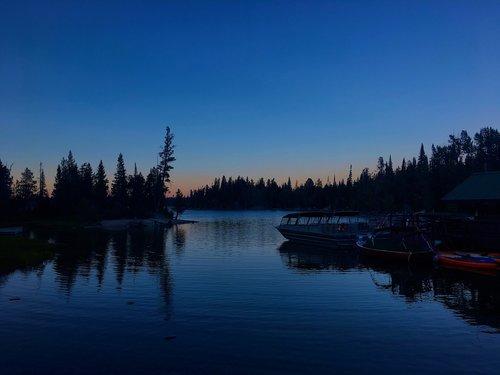 twilight on jenny lake  twilight  evening