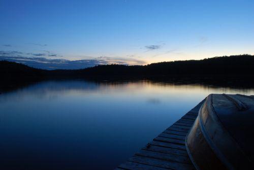 Twilight Over Lake