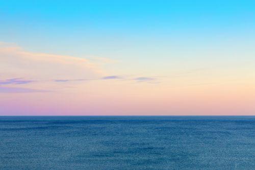 Twilight Sky And Sea