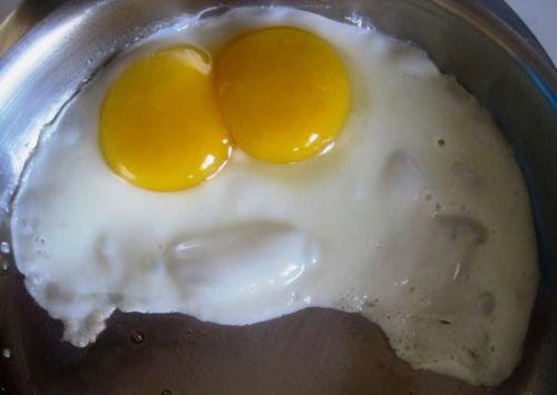 kiaušinis, trykas, du, dvyniai, dvigubas, pusryčiai, dvigubas trynys
