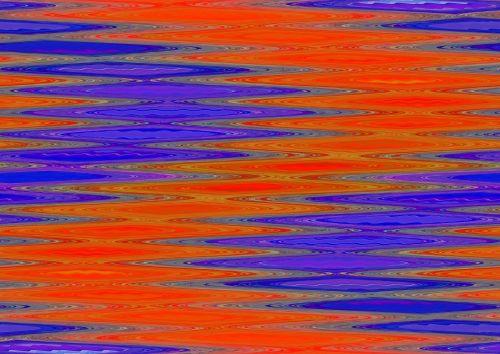 Twisted Purple And Orange Pattern