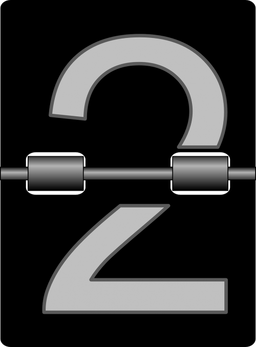 two numbers clock