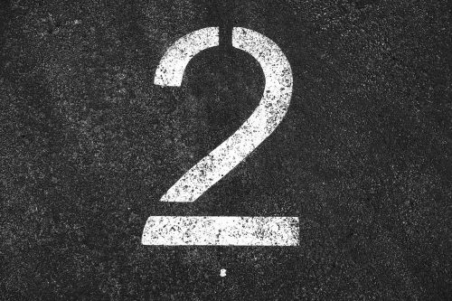 two 2 number two
