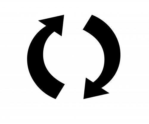 Two Arrows Refresh Symbol