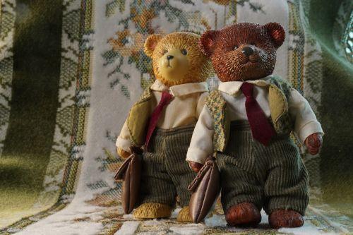 two bears partnership cute
