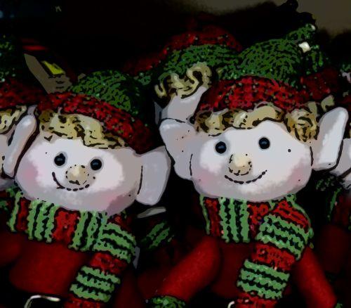 Two Cartoon Elves