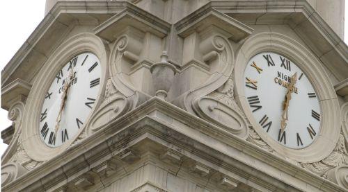 two clocks clocks night cometh