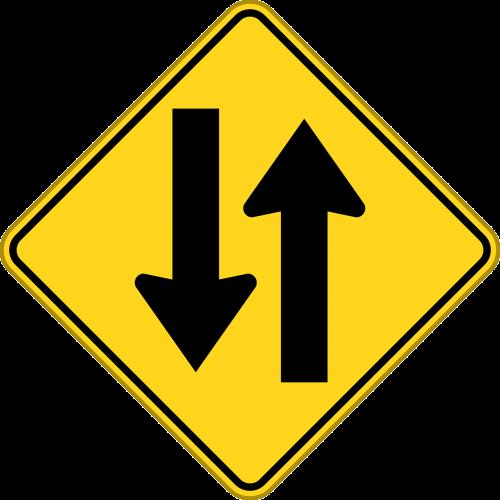 two-way traffic two-way road opposing traffic