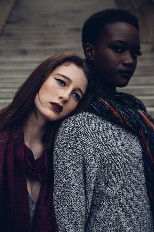 two women fashion female