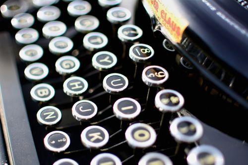 typewriter vintage secretary