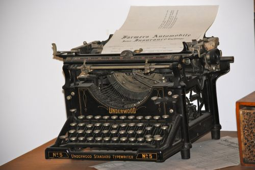 typewriter writing vintage