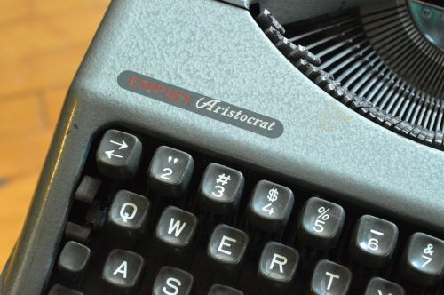 typewriter keys machine