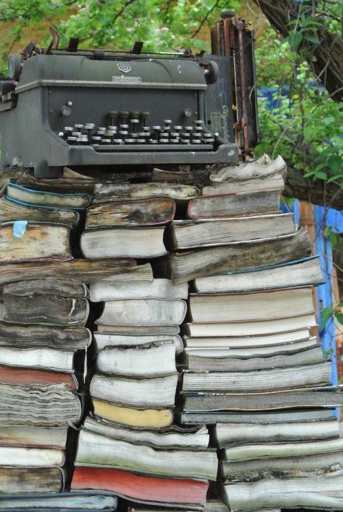 typewriter books rotten