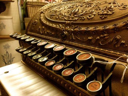 typewriter antique old