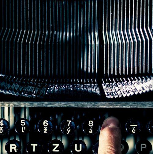 typewriter finger old