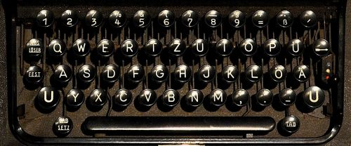 typewriter keyboard letters