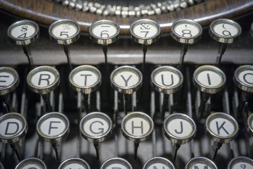 typewriter buttons keys