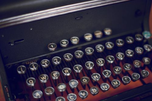 typewriter keys writer