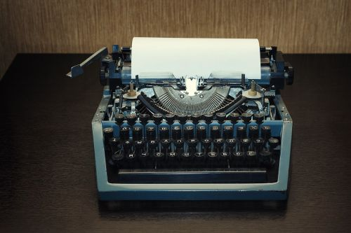 typewriter no one retro