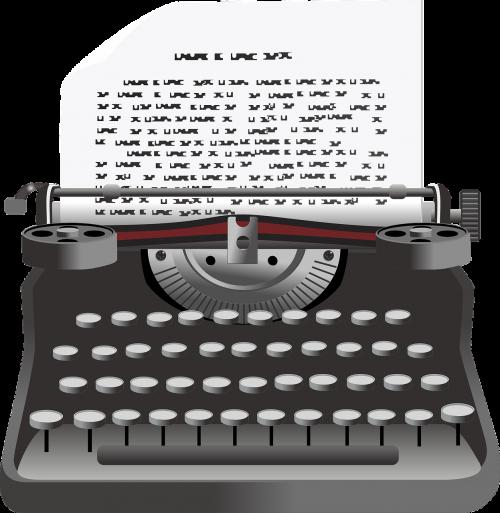 typewriter vintage typing
