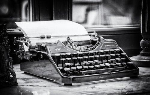 typewriter  write  tap
