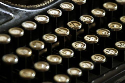 typewriter letters keyboard