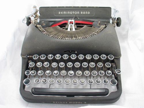 typewriter black old