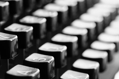 typewriter keys mechanically
