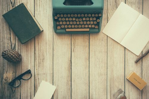 typewriter book notebook