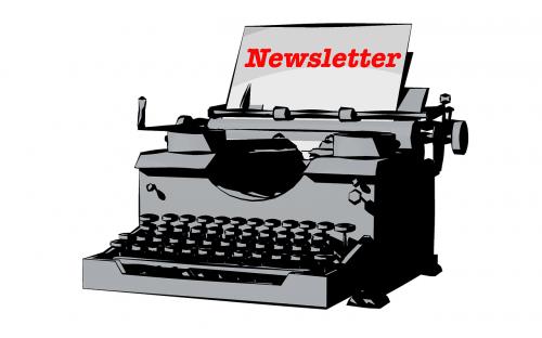 typewriter newsletter leave