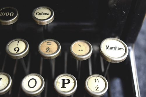typewriter antique letters