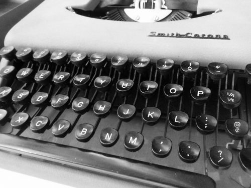 typewriter vintage type