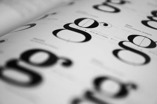 typography geschtaltung fonts