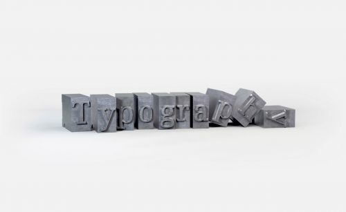 typography blocks objects