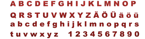 typography font letters