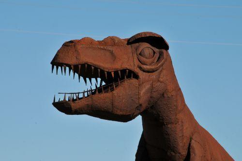 Tyrannosaurus Rex Metal Sculpture