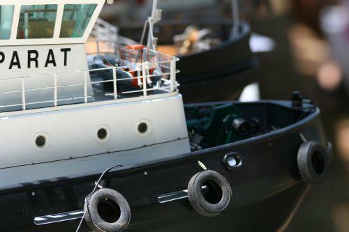 Tyre Fenders On Model Tug Boat