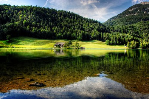 tyrol mountains lake