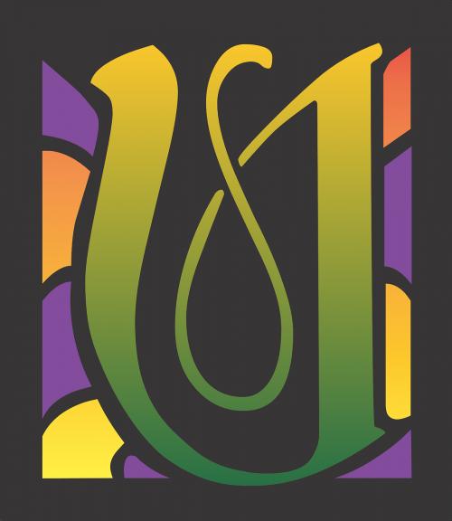 u letter design