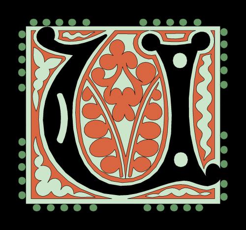 u alphabet vintage