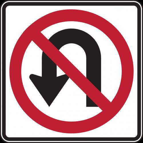 u turn drive turn
